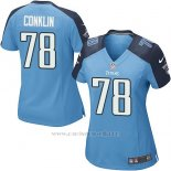 Camiseta Tennessee Titans Conklin Azul Nike Game NFL Mujer