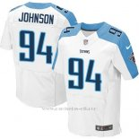 Camiseta Tennessee Titans Johnson Blanco Nike Elite NFL Hombre