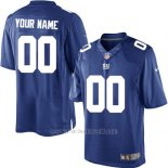 Camisetas NFL Limited Hombre New York Giants Personalizada Azul