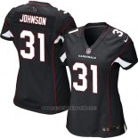 Camiseta Arizona Cardinals Johnson Negro Nike Game NFL Mujer