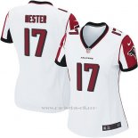 Camiseta Atlanta Falcons Hester Blanco Nike Game NFL Mujer
