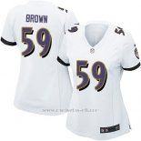 Camiseta Baltimore Ravens Brown Blanco Nike Game NFL Mujer
