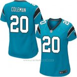 Camiseta Carolina Panthers Coleman Lago Azul Nike Game NFL Mujer