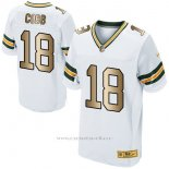 Camiseta Green Bay Packers Cobb Blanco Nike Gold Elite NFL Hombre