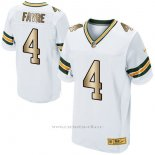 Camiseta Green Bay Packers Favre Blanco Nike Gold Elite NFL Hombre2