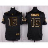 Camiseta Green Bay Packers Starr Negro Nike Elite Pro Line Gold NFL Hombre