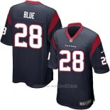 Camiseta Houston Texans Blue Negro Nike Game NFL Hombre