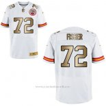 Camiseta Kansas City Chiefs Fisher Blanco Nike Gold Elite NFL Hombre