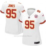 Camiseta Kansas City Chiefs Jones Blanco Nike Game NFL Mujer