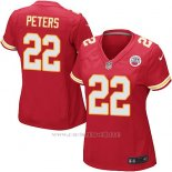 Camiseta Kansas City Chiefs Peters Rojo Nike Game NFL Mujer