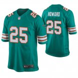 Camiseta NFL Game Hombre Dolphins Xavien Howard Throwback Verde