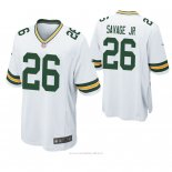 Camiseta NFL Game Hombre Green Bay Packers Darnell Savage Jr. Blanco