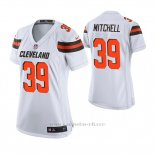 Camiseta NFL Game Mujer Cleveland Browns Terrance Mitchell Blanco