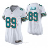 Camiseta NFL Game Mujer Miami Dolphins Dwayne Allen Throwback Blanco