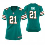 Camiseta NFL Game Mujer Miami Dolphins Frank Gore Throwback Verde