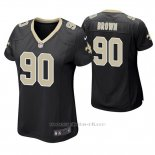 Camiseta NFL Game Mujer New Orleans Saints Malcom Brown Negro