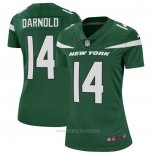 Camiseta NFL Game Mujer New York Jets 14 Sam Darnold Verde