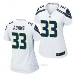Camiseta NFL Game Mujer Seattle Seahawks Jamal Adams Blanco