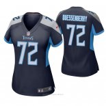 Camiseta NFL Game Mujer Tennessee Titans David Quessenberry Azul2