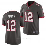 Camiseta NFL Game Tampa Bay Buccaneers 12 Tom Brady 2020 Vapor Gris