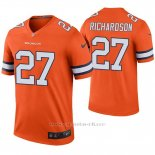 Camiseta NFL Legend Hombre Denver Broncos Horace Richardson Naranja Color Rush
