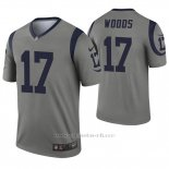 Camiseta NFL Legend Hombre Los Angeles Rams 17 Robert Woods Inverted Gris