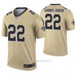 Camiseta NFL Legend Hombre New Orleans Saints 22 Chauncey Gardner Johnson Inverted Oro