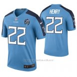 Camiseta NFL Legend Hombre Tennessee Titans Derrick Henry Azul 20th Anniversary Color Rush