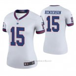 Camiseta NFL Legend Mujer New York Giants Quadree Henderson Blanco Color Rush