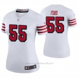Camiseta NFL Legend Mujer San Francisco 49ers Dee Ford Blanco Color Rush