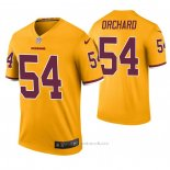 Camiseta NFL Legend Washington Redskins Nate Orchard Color Rush Amarillo