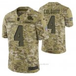 Camiseta NFL Limited Cleveland Browns 4 Britton Colquitt 2018 Salute To Service Camuflaje