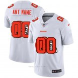 Camiseta NFL Limited Cleveland Browns Personalizada Logo Dual Overlap Blanco