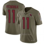 Camiseta NFL Limited Hombre Arizona Cardinals 11 Larry Fitzgerald Rojo Stitched 2017 Salute To Service