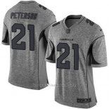 Camiseta NFL Limited Hombre Arizona Cardinals 21 Patrick Peterson Gris Stitched Gridiron