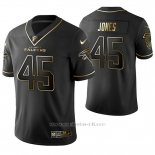 Camiseta NFL Limited Hombre Atlanta Falcons Deion Jones Golden Edition Negro