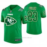 Camiseta NFL Limited Hombre Kansas City Chiefs Kendall Fuller St. Patrick's Day Verde