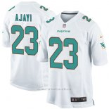 Camiseta NFL Limited Hombre Miami Dolphins 23 Jay Ajayi Game Blanco