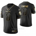Camiseta NFL Limited Hombre Minnesota Vikings Kirk Cousins Golden Edition Negro