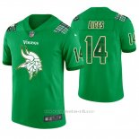 Camiseta NFL Limited Hombre Minnesota Vikings Stefon Diggs St. Patrick's Day Verde