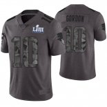Camiseta NFL Limited Hombre New England Patriots Josh Gordon Gris Super Bowl LIII