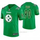 Camiseta NFL Limited Hombre Pittsburgh Steelers T.j. Watt St. Patrick's Day Verde