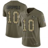 Camiseta NFL Limited Hombre San Francisco 49ers 10 Jimmy Garoppolo Stitched 2017 Salute To Service