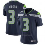 Camiseta NFL Limited Hombre Seattle Seahawks 3 Russell Wilson Steel Azul Stitched Vapor Untouchable