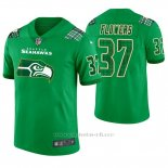 Camiseta NFL Limited Hombre Seattle Seahawks Tre Flowers St. Patrick's Day Verde