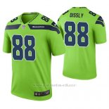 Camiseta NFL Limited Hombre Seattle Seahawks Will Dissly Verde Color Rush