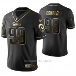 Camiseta NFL Limited Hombre St Louis Rams Aaron Donald Golden Edition Negro