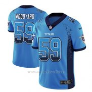 Camiseta NFL Limited Hombre Tennessee Titans Wesley Woodyard Light Azul 2018 Drift Fashion Color Rush