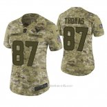 Camiseta NFL Limited Mujer Houston Texans Demaryius Thomas Camuflaje 2018 Salute To Service