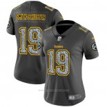 Camiseta NFL Limited Mujer Pittsburgh Steelers Smith-Schuster Static Fashion Gris
